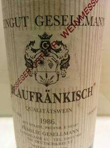 Gesellmann Blaufränkisch 1986